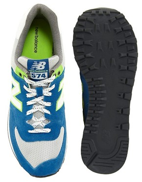 Image 3 ofNew Balance Exclusive To ASOS 574 Yacht Club Trainers