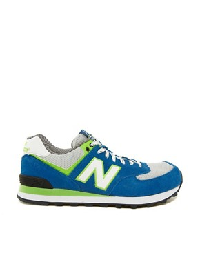 Image 4 ofNew Balance Exclusive To ASOS 574 Yacht Club Trainers