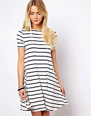 ASOS Swing Dress In Stripe Print