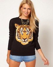 ASOS  Pullover mit Tigermotiv