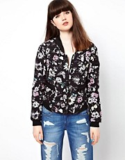 Eleven Paris Reversible Bomber Jacket in Floral Butterfly Print