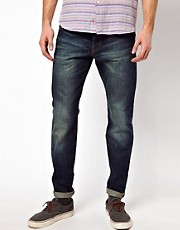 Denim Demon Jeans Aahka Regular Slim Cone Mills Denim Dark Wash