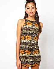 Motel Animal &amp; Flower Print Dress