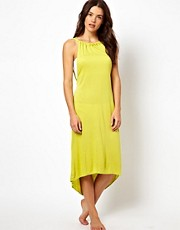 ASOS Cut Out Back Midi Dip Hem Beach Dress