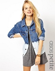 ASOS PETITE Dip Dye Denim Boyfriend Jacket
