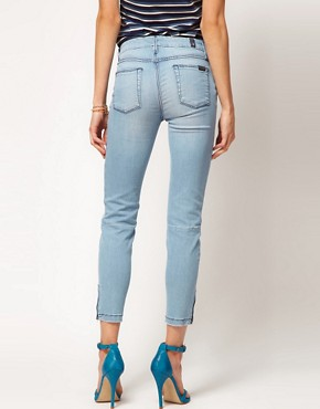 Image 2 of7 For All Mankind Jean Crop Skinny With Zip Detail