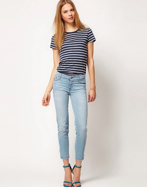Image 4 of7 For All Mankind Jean Crop Skinny With Zip Detail