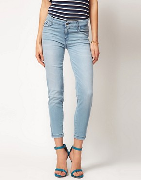 Image 1 of7 For All Mankind Jean Crop Skinny With Zip Detail