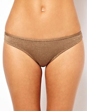 River Island Pale Metallic Twist Bikini Brief