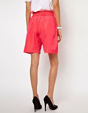 Image 2 ofLulu &amp; Co Taffeta Shorts in Pink