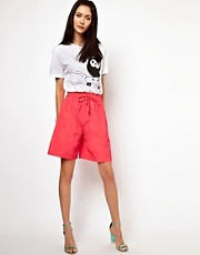 Lulu &amp; Co Taffeta Shorts in Pink