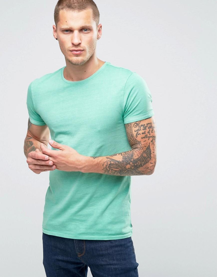 Футболка с закатанными рукавами Scotch and Soda - Зеленый