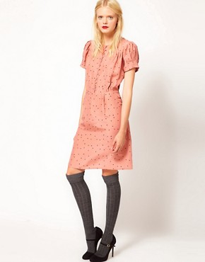 Image 4 ofSessun Silk Printed Tea Dress