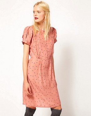 Image 1 ofSessun Silk Printed Tea Dress