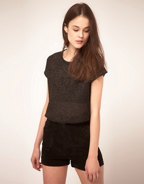 Image 1 ofMarkus Lupfer Faux Leather T-Shirt