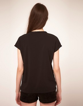 Image 2 ofMarkus Lupfer Faux Leather T-Shirt