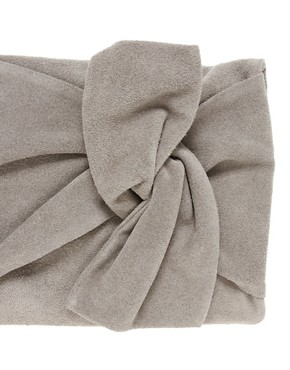 Image 4 ofASOS Suede Bow Clutch Bag