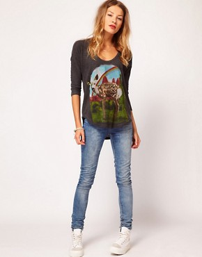 Image 4 ofLocal Celebrity Deer Print Top