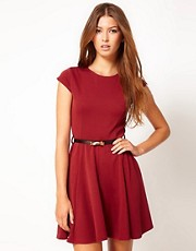 Club L Skater Dress With Belt
