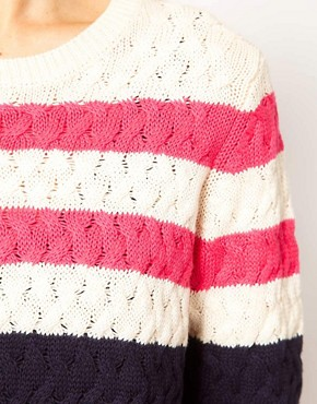 Image 3 ofMango Pink Stripe Detail Jumper