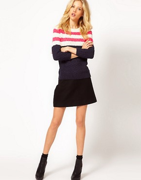 Image 4 ofMango Pink Stripe Detail Jumper