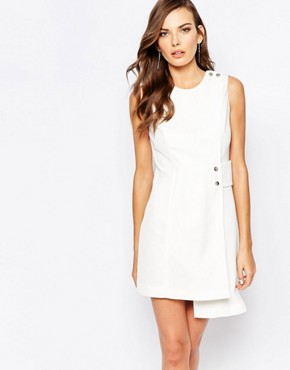 Finders Keepers 60s Shift Dress in Ivory