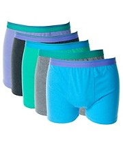 River Island Spring Marls 5 Pack Trunks