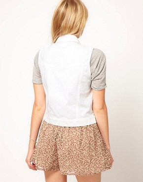 Image 2 ofASOS Gilet in White Denim