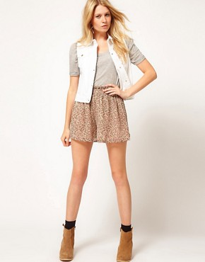Image 4 ofASOS Gilet in White Denim
