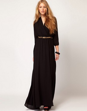Image 1 ofMango Maxi Dress With Thigh Split