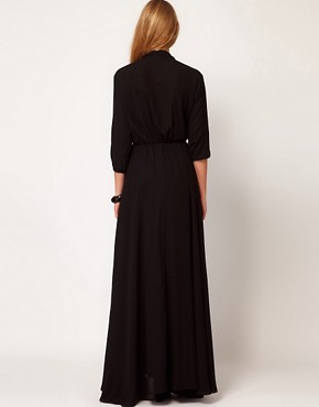 Image 2 ofMango Maxi Dress With Thigh Split