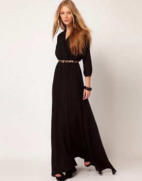 Image 4 ofMango Maxi Dress With Thigh Split