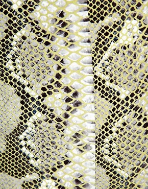 Image 3 ofASOS Pencil Skirt in Snake Effect Leather