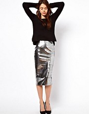 ASOS Pencil Skirt in Snake Effect Leather
