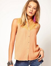Minkpink Wildwest Sleeveless Shirt with Western Detail