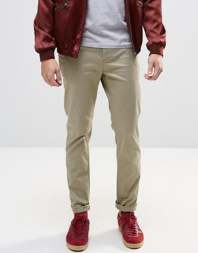ASOS Slim Chinos In Light Stone
