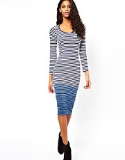 ASOS Bodycon Dress in Dip Dye Stripe