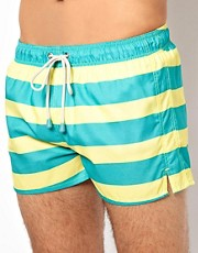 Oiler & Boiler Wide Hoop Shortie Swim Shorts