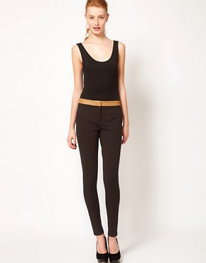 Image 1 ofTed Baker Contrast Waist Tailored Trouser