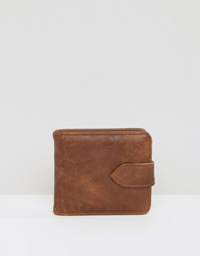 New Look Faux Leather Wallet in Brown