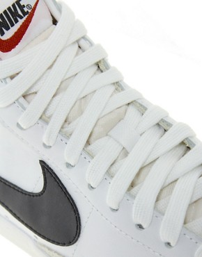 Image 2 ofNike Blazer Mid White Leather Trainers