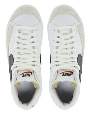 Image 3 ofNike Blazer Mid White Leather Trainers