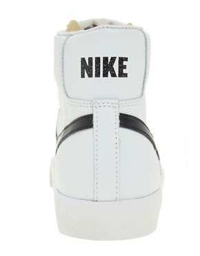 Image 4 ofNike Blazer Mid White Leather Trainers
