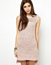 ASOS Knit Dress In Stitch Detail