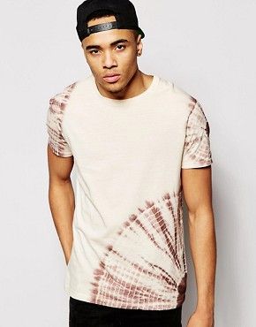ASOS T-Shirt with Tie Dye Print In Oversized Fit