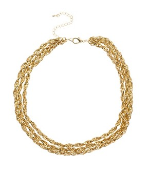 Image 1 ofASOS 3 Row Twist Necklace