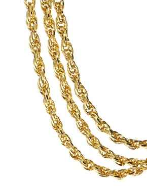 Image 3 ofASOS 3 Row Twist Necklace