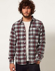 ASOS Check Shirt In Fleece