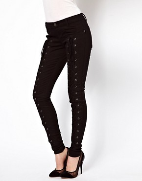 Image 1 ofTripp Nyc Front Lace Jeans