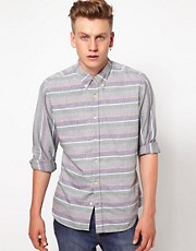 J Lindeberg Shirt Horizontal Stripe